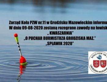 Zawody spławikowe o Puchar Burmistrza Grodziska Maz